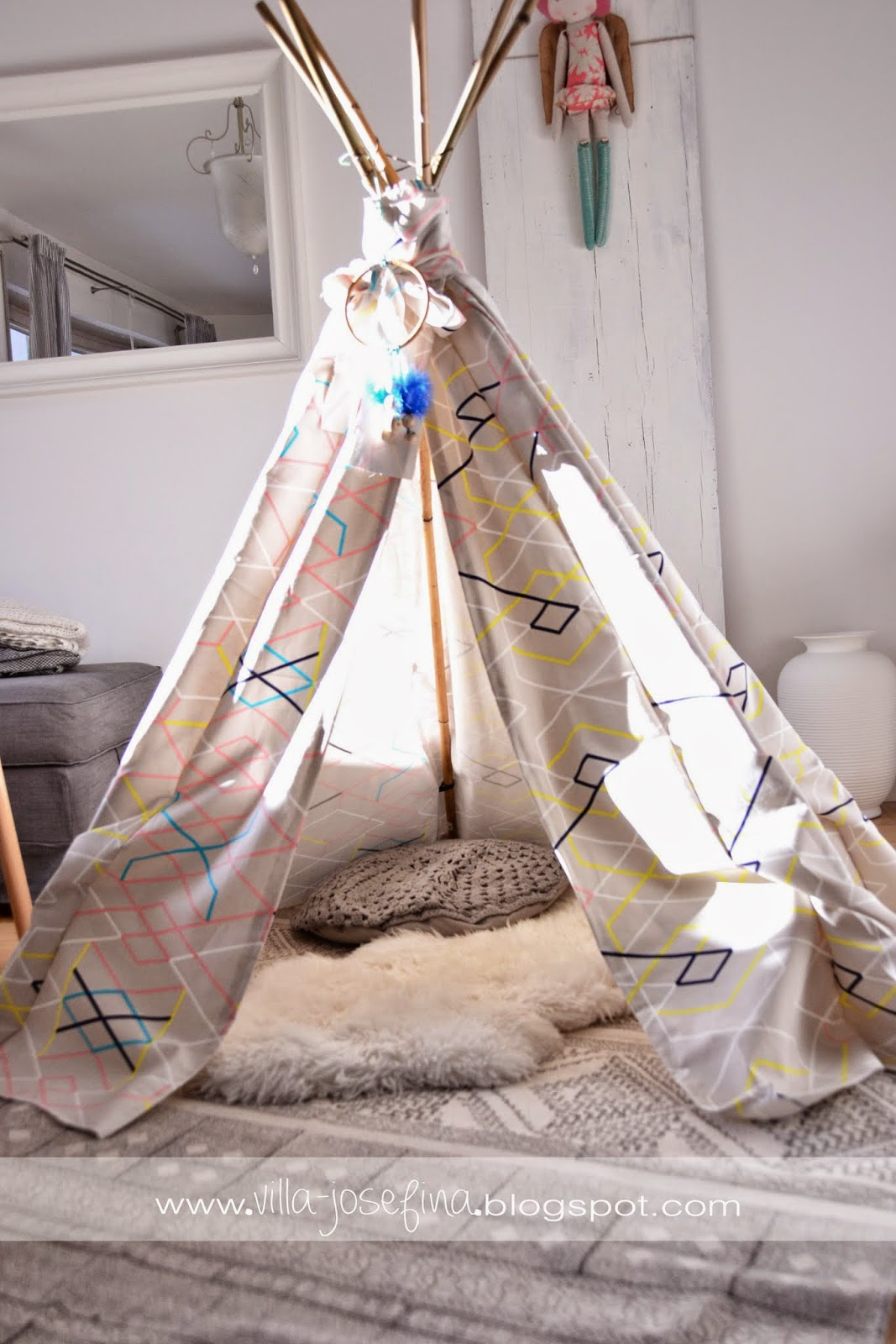 ein tipi is in the house diy gen ht und last minute faschingsverkleidungsideen villa josefina. Black Bedroom Furniture Sets. Home Design Ideas